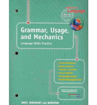 Holt Elements of Language Second Course Student Text ISBN# 0030526647 Grade 8