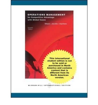 operations management for competitive advantage 11th Operations management for competitive advantage, edition 11, author: chase richard, jacobs robert, aquilano nicholas - powerpoint ppt presentation.