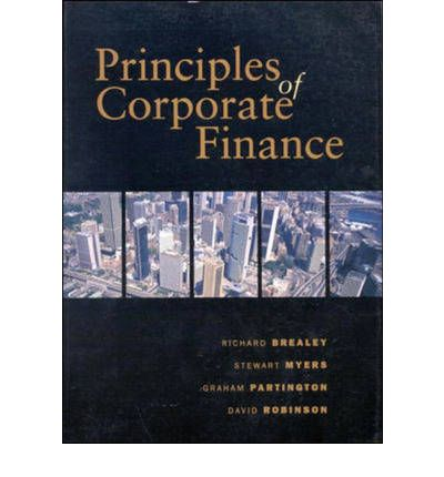 the principles of corporate finance Principles of finance  chapter 6 corporate finance weighted average cost of capital beta and its uses return on equity modigliani & miller project valuation.