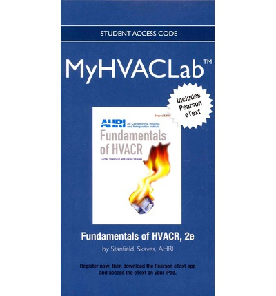 New MyHVACLab with Pearson Etext - Access Card - for Fundamentals of HVACR
