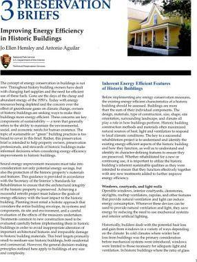 Improving Energy Efficiency in Historic Buildings