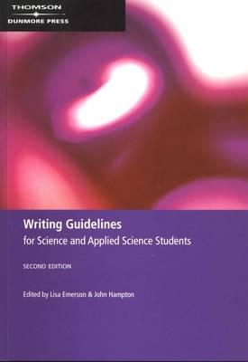Writing Guidelines for Science and Applied Science Students