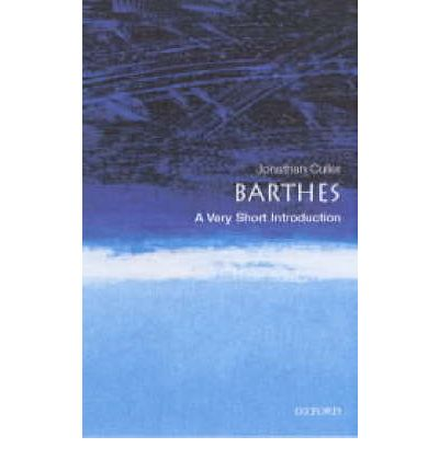 Barthes: A Very Short Introduction