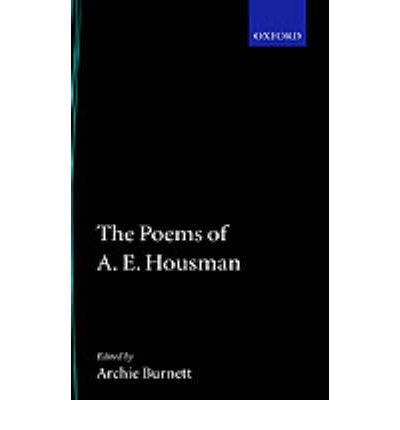 the poetry of a e housman essay Essays from bookrags provide great ideas for a e housman essays and paper topics like essay view this student essay about a e housman.