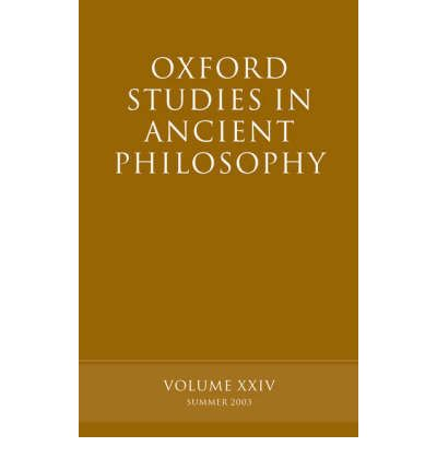 Oxford Studies in Ancient Philosophy: Volume XXIV