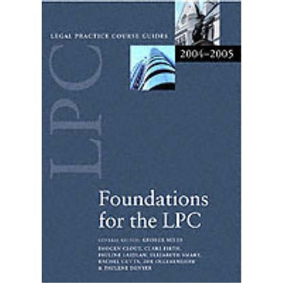 Foundations for the LPC 2004/2005