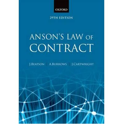 PDF Download Ansons Law Of Contract Free eBooks PDF