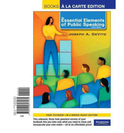 The Essential Elements of Public Speaking : Joseph A ...