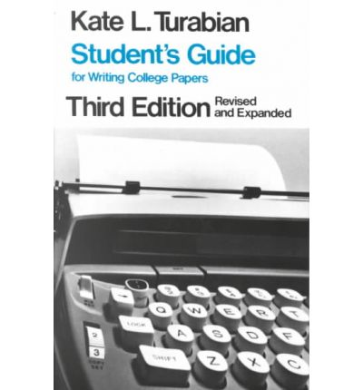 Student's Guide for Writing College Papers