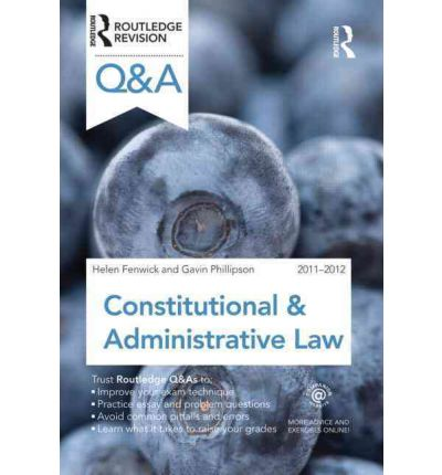 Q&A Constitutional & Administrative Law 2011-2012