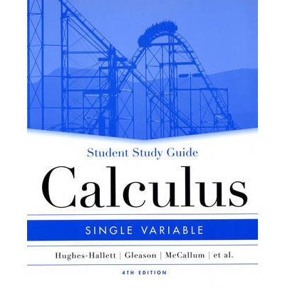 Calculus: Student Study Guide