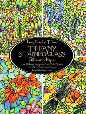 Tiffany Stained Glass Giftwrap Paper : Four Different Designs on Four 18