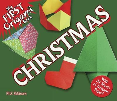 My first origami book christmas with 24 sheets of origami paper