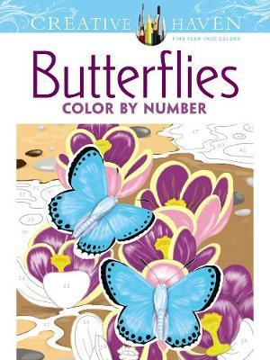 Creative Haven Butterflies Color By Number Coloring Book Jan Sovak 9780486798585