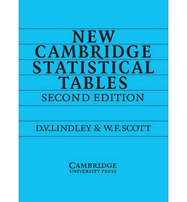 New Cambridge Statistical Tables - PDF Free Download