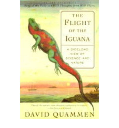 flight of the iguana Scribner paperback poor noticeably used book heavy wear to cover pages contain marginal notes, underlining, and or highlighting possible ex library copy, with all the markings/stickers of that library.