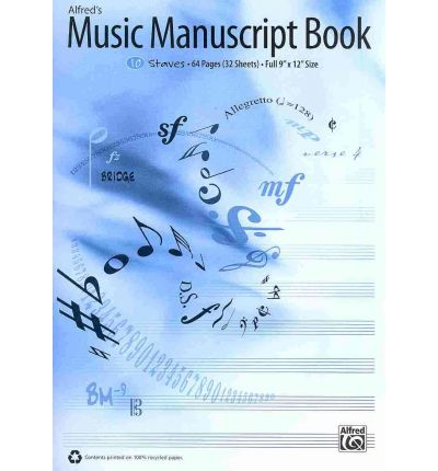 Alfred 39 s music manuscript book alfred publishing for Music manuscript template