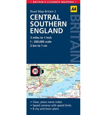 2. Central Southern England : AA Road Map Britain