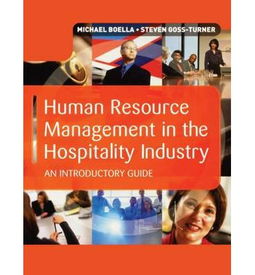 The Role of the Human Resource Department in a Hospitality Organization