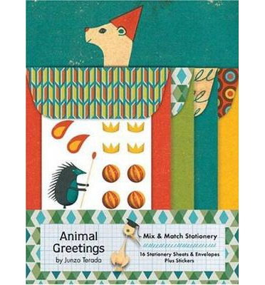 Animal Greetings Mix and Match Stationery