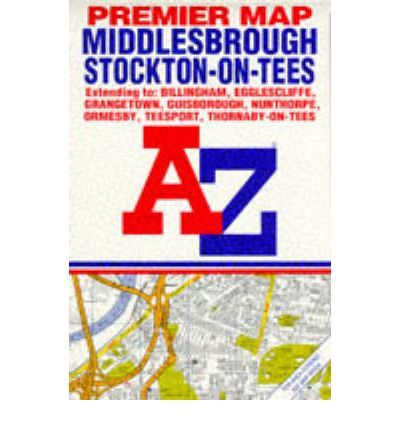A. to Z. Premier Street Map of Middlesbrough and Stockton-on-Tees