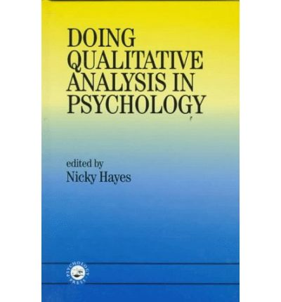 an analysis of modern psychology Introduction to qualitative methods in psychology part 3 qualitative data analysis 135 the beginnings of modern psychology:.