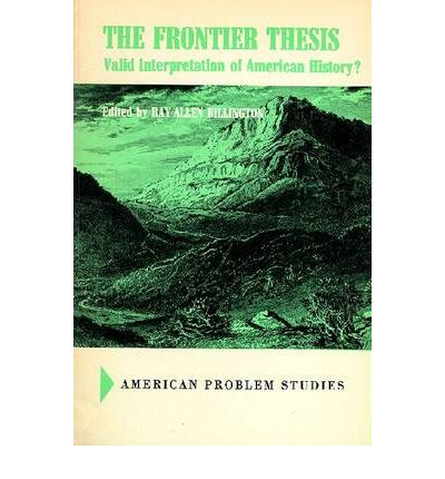 the fronteir thesis Following the frontier line, 1790 to 1890 september 6, 2012 view accessibility data in 1890, the superintendent of the census described the western part of the.
