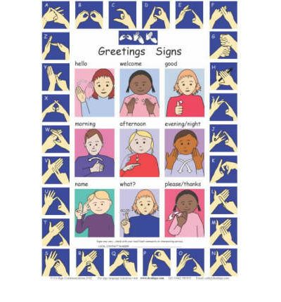 Let's Sign: BSL Greetings Signs and Fingerspelling A2 Wallchart