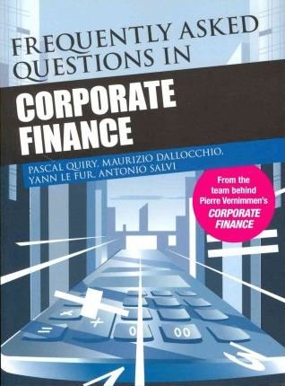 questions on corporate finance There are 19 questions in this test from the corporate finance section of the cfa level 1 syllabus you will get 28 minutes to complete the test.