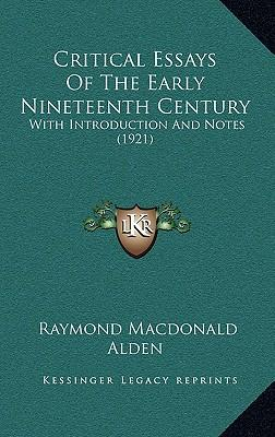 english critical essays nineteenth century