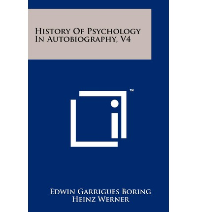 History of Psychology in Autobiography, V4