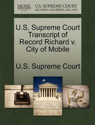 Download di nuovi libri U.S. Supreme Court Transcript of Record Richard V. City of Mobile by - (Italian Edition) PDF iBook PDB