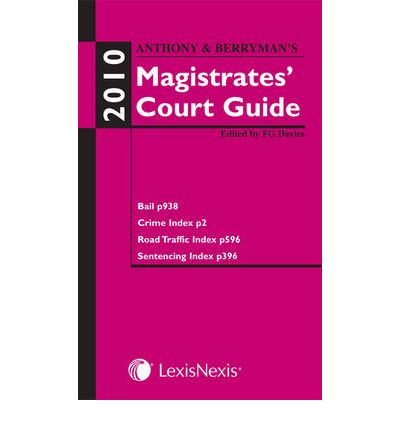 Anthony and Berryman's Magistrates' Court Guide 2010