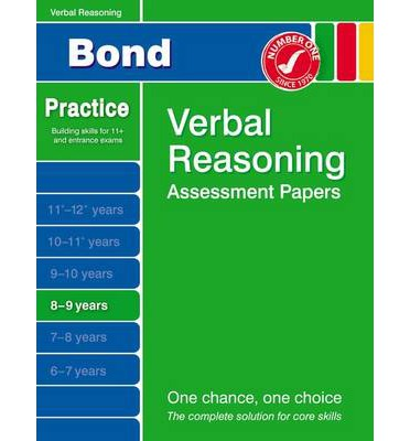 Bond Verbal Reasoning Assessment Papers 8-9 Years