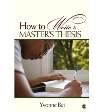 Write a masters thesis