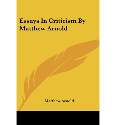 arnold essays in criticism 1865 Mr miller's class: home 9th grade english .