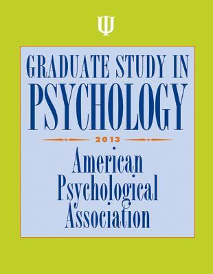 Graduate Study in Psychology 2013