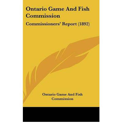Ontario game and fish commission ontario game fish for Game and fish commission