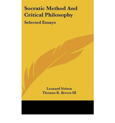 socratic method essay Eight essays focus on specific dialogues, each examining why plato has  socrates use the particular methods he does in the context defined by the  dialogue.