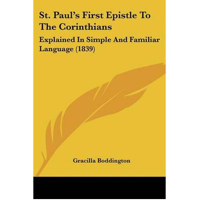 paul s first letter to the corinthians st paul s epistle to the corinthians gracilla 23914