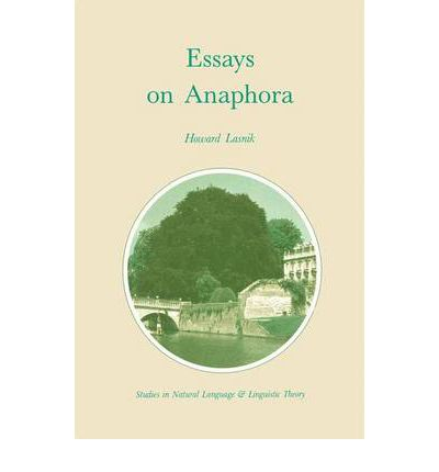 essays on anaphora View the contents and read select essays, articles,  anaphora literary press anaphora literary press  anaphora is looking for creative books of poetry, short .