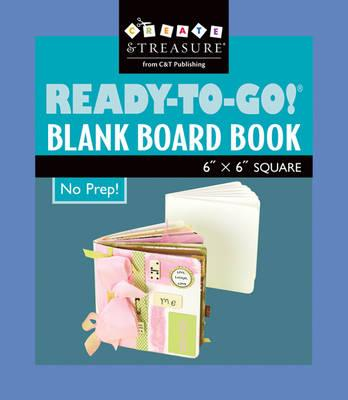 "Ready-To-Go Blank Board Book White 6"" X 6"" Square"