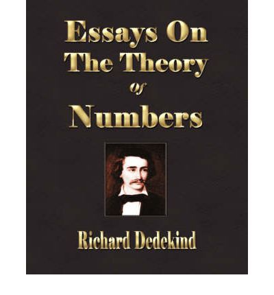 dedekind essays theory numbers Customers who bought this item also bought