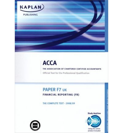 Ebooks und kostenlose Downloads F7 Financial Reporting FR UK : Complete Text ePub 1847105203 by -