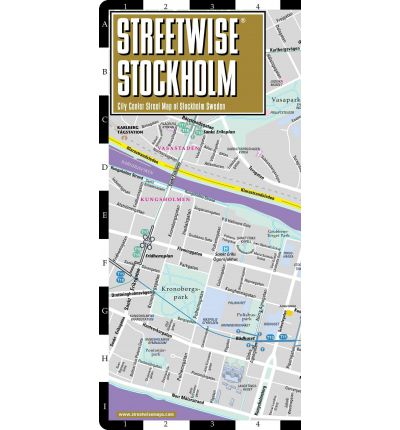 Streetwise Stockholm Map Laminated City Center Street Map of Stockholm, Sweden