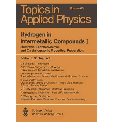 Libro descarga pdf Hydrogen in Intermetallic Compounds I : Electronic, Thermodynamic, and Crystallographic Properties, Preparation by Louis Schlapbach"