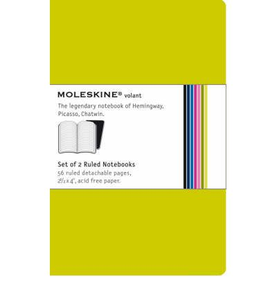 Moleskine Volant Extra Small Ruled Green
