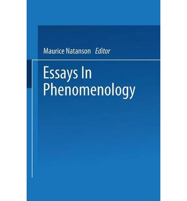phenomenology essay Love is something that means very different things to different people for some, love can be purely romantic, or even purely sexual for others, real love is utterly.