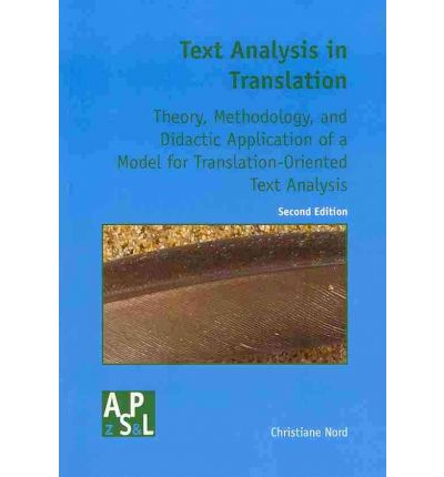 Text analysis in translation christiane nord 9789042018082 for Christiane nord