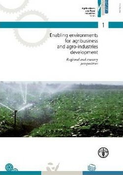 Enabling Environments for Agribusiness and Agro-industries Development : Regional and Country Perspectives